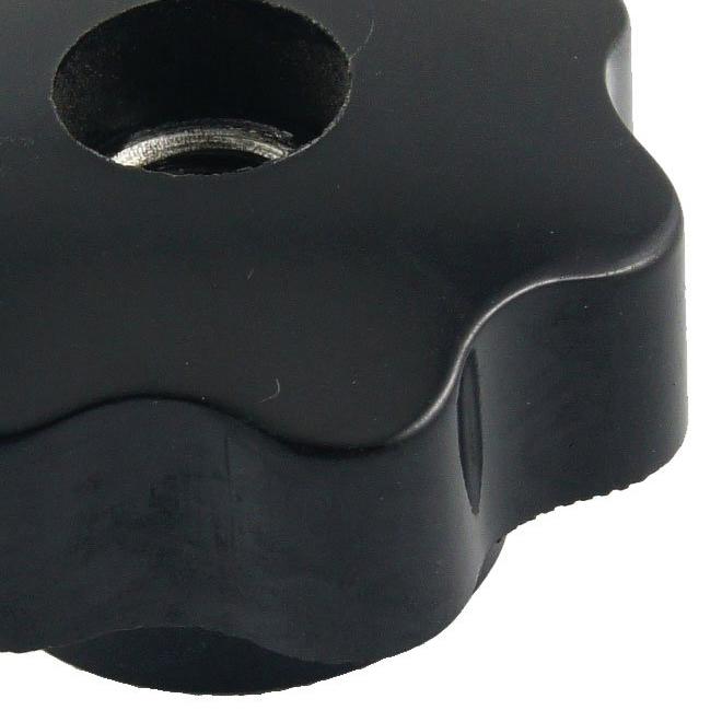 2x m10 10mm durchmesser thema schwarz kunststoff stern kopf feststellschraux8x9 ebay. Black Bedroom Furniture Sets. Home Design Ideas