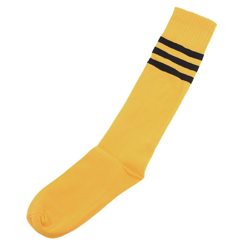 2849ed725fd Image is loading Men-Knee-High-Striped-Elastic-Soccer-Football-Socks-