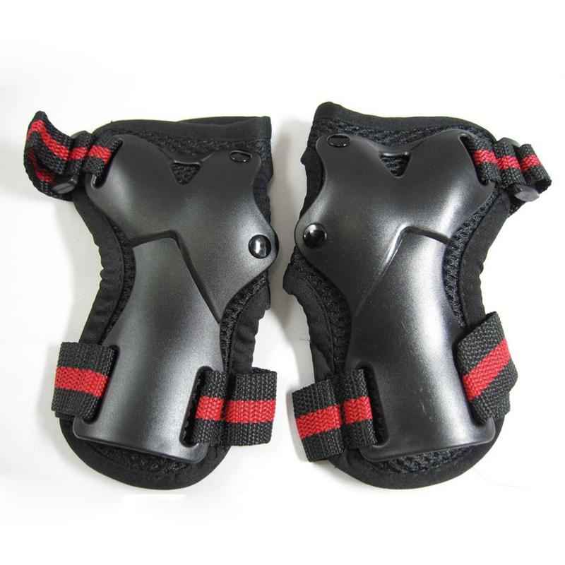 board-Schutz dreiteiliges Set S A8D3 rot schwarz Handgelenk, Ellenbogen, Knie