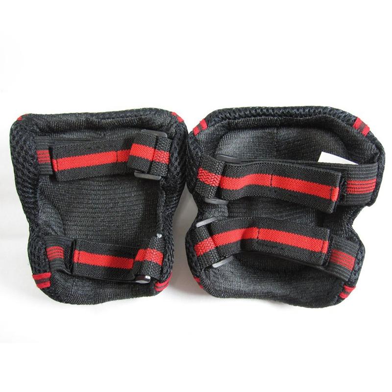rot schwarz board-Schutz dreiteiliges Set Handgelenk, Ellenbogen, Knie S A8D3