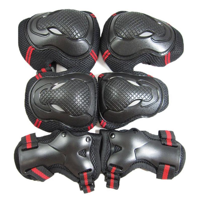 Handgelenk, Ellenbogen, Knie board-Schutz dreiteiliges Set rot schwarz S A8D3