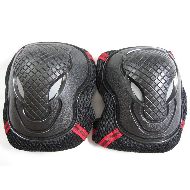 S A8D3 Handgelenk, Ellenbogen, Knie rot schwarz board-Schutz dreiteiliges Set