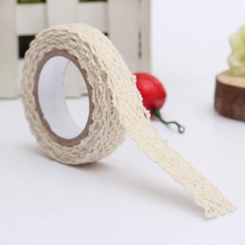 9X Schleifenband Spitze Hochzeit Weihnachts Borduere Geschenk ca. 18 mm x 1.7 y3