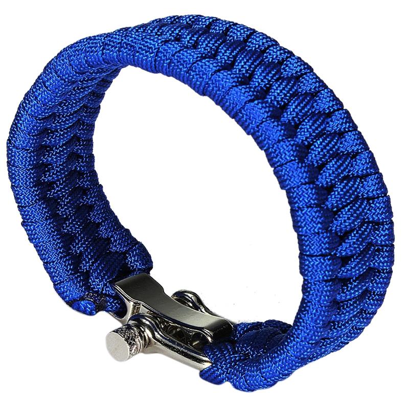 Cuerda de paracaidas Pulsera supervivencia con clips metal color ...