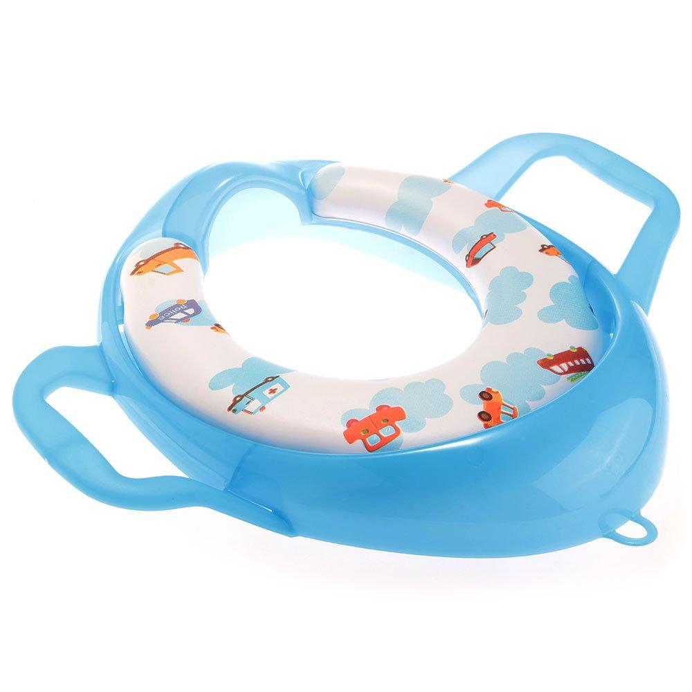 siege pot reducteur de toilette lunette wc avec poignee pour bebe enfant w3k3 ebay. Black Bedroom Furniture Sets. Home Design Ideas