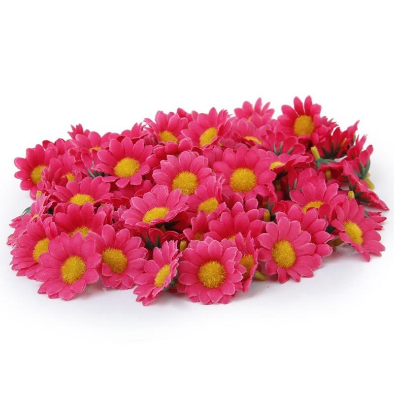 8x 100x Kuenstliche Gerbera Blumen Koepfe Fuer Diy Hochzeit K7c2 Ebay