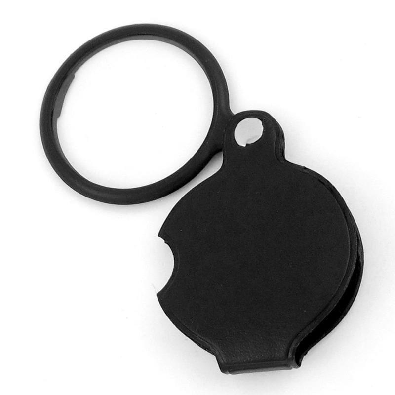 4X Lupa Spiegel del bolsillo plegable forma redonda Negro X8I3