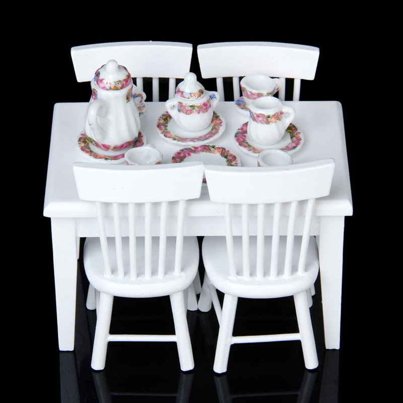2X-15pcs-Doll-House-Miniature-Porcelain-Tea-Set-Dish-Cup-Plate-Colorful-N3E3 thumbnail 7