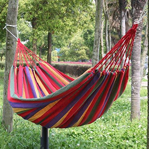 190cm x 80cm streifen leinwand haengematten fall bett 120kg stark und komfo p6v8 ebay. Black Bedroom Furniture Sets. Home Design Ideas