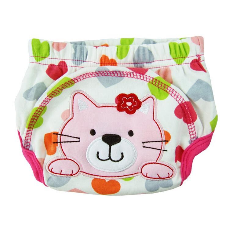 Braga-de-aprendizaje-de-algodon-lavable-patron-de-gato-impermeable-para-el-be-ST