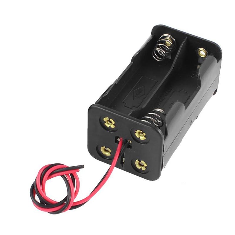 1PCS Battery Holder Box Case w// Wire 4XAA 4×AA 4XAA 6V 4*AA good