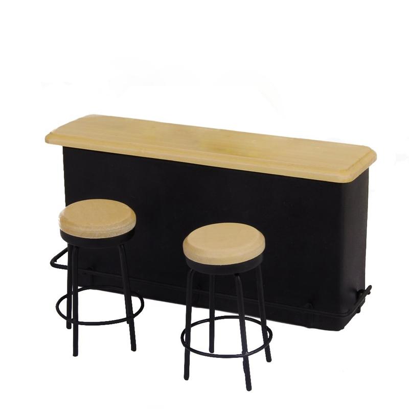 112 Puppenhaus Miniatur Bar Moebel Tisch Und 2 Stuehle T9k8 Ebay