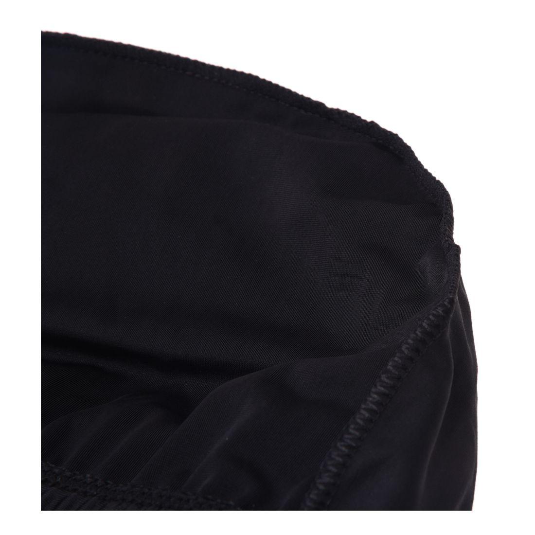 Woman Man Polyester Elastic Swimming Bathing Hat Cap Black W8J8