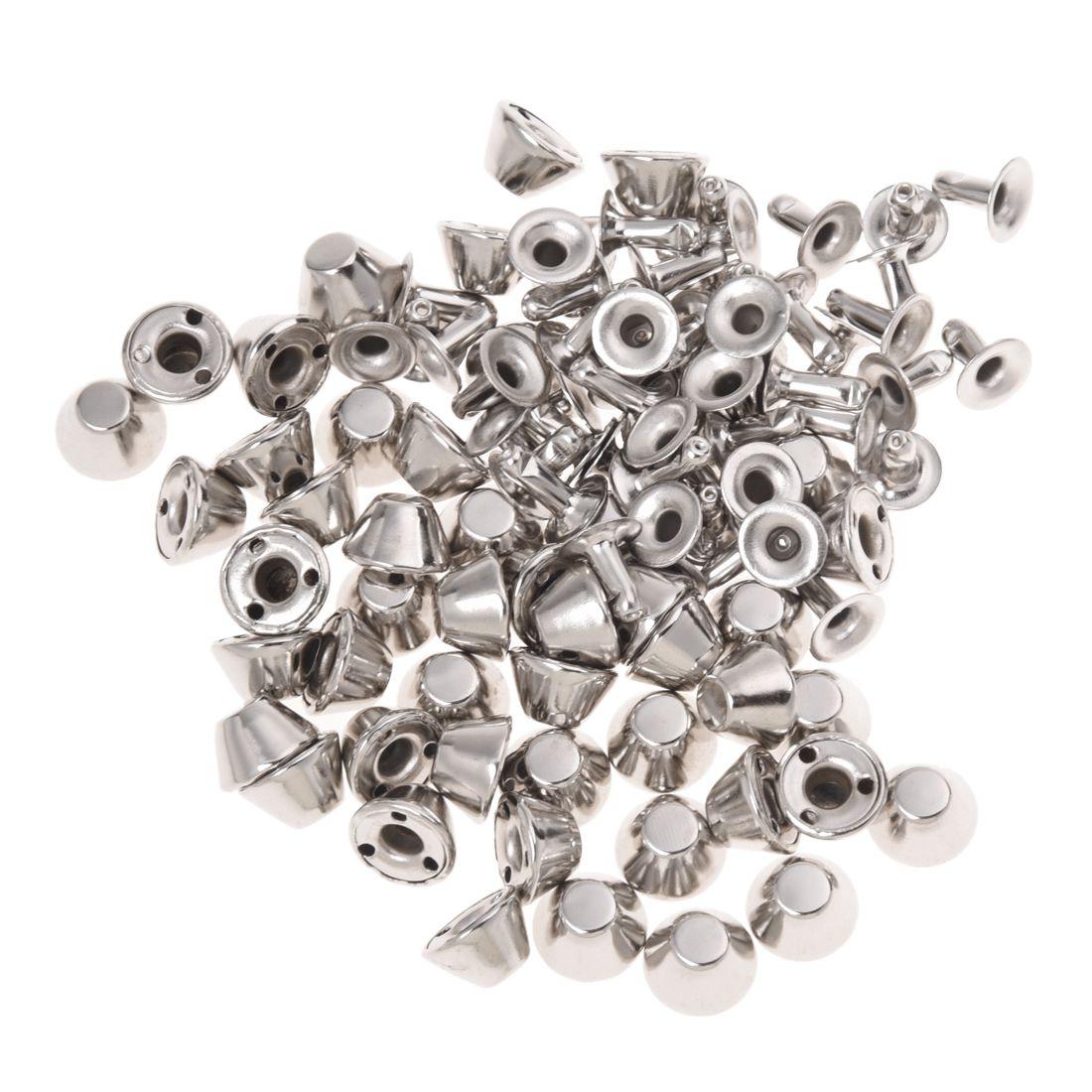 50 x remaches tachuelas bronce hierro color plata for Remaches de hierro
