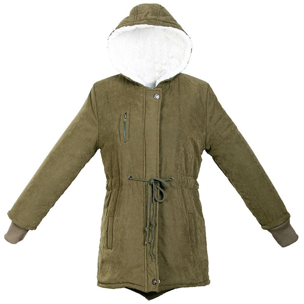 ma damen dickes vlies warmer winter mantel lange jacke l ebay. Black Bedroom Furniture Sets. Home Design Ideas