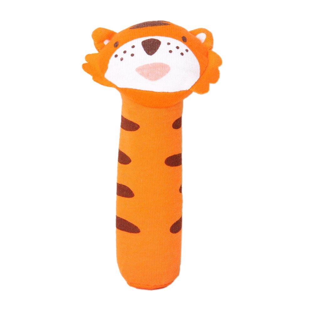 Gioco del bambino barra a forma di tigre con suono giocattoli tessuto K5J5
