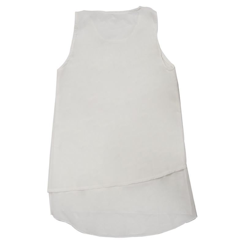 Blusa-sin-mangas-de-chiffon-de-doble-capa-de-mujeres-de-moda-Camiseta-chaleco-fl