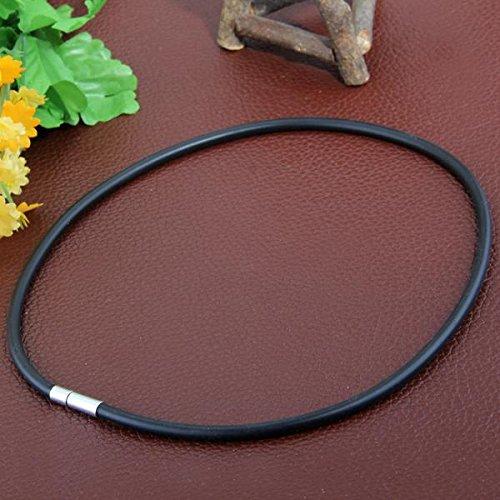 cc748d7cc37d Detalles de 10 Collar de Gargantilla de Encaje Caucho Negro 450x4mm por  Mujer Hombre G9O6