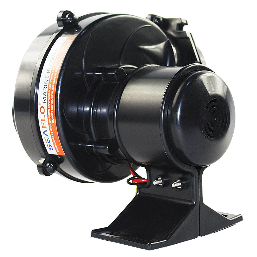 Air Line Blower : Seaflo in line bilge air blower cfm boat black