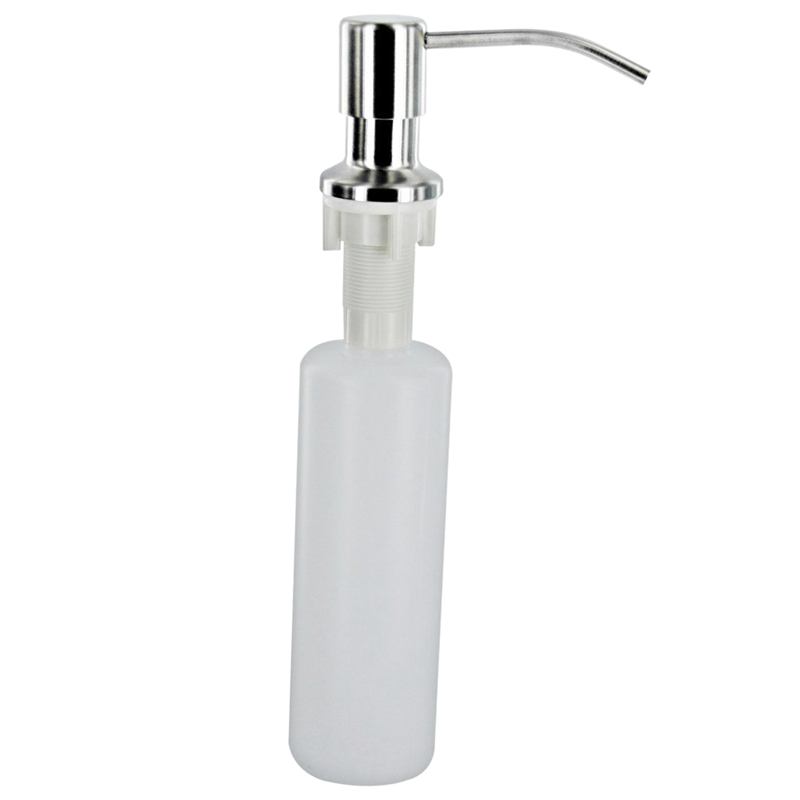 Plastic Metal Bottle Kitchen White 300ml Liquid Soap Sink Dispenser Bathroom Hardware