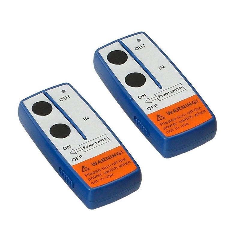 12V Recovery Wireless Winch Remote Control 2 Handset Switch For JEEP ATV SU S4O6