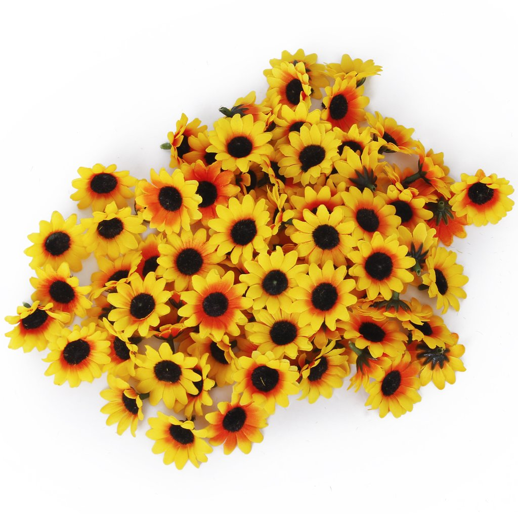100pcs Artificial Gerbera Daisy Flower Hes For Wedding Party Diy