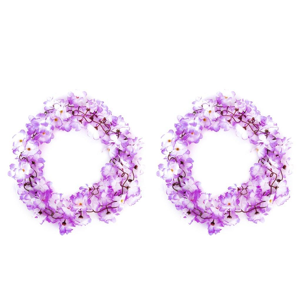 2x Kuenstliche Azalee Girlande Blume Rebe Hochzeits Garten