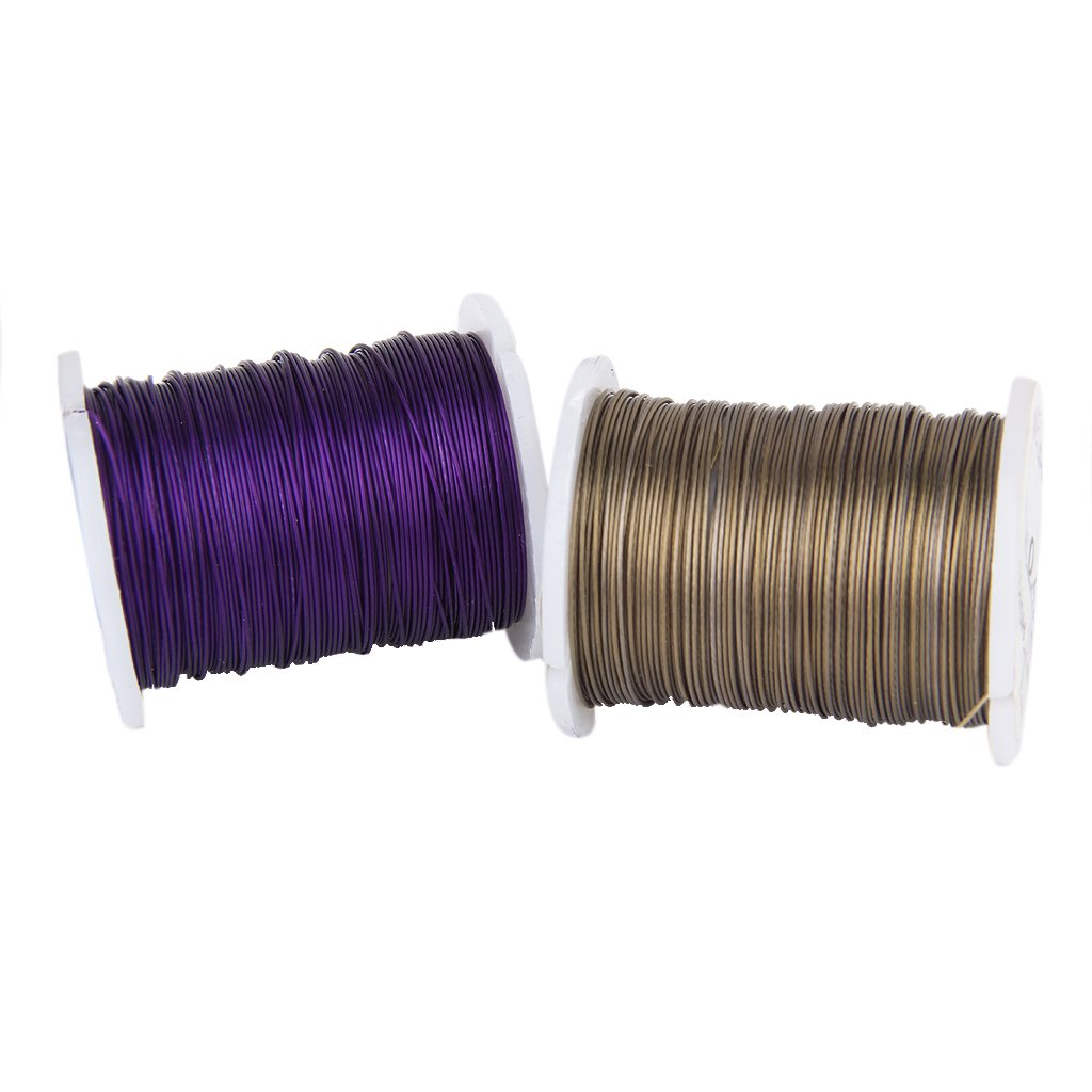 J10 rolls Mixed Color Cord Steel Beading Wire String 0.45 mm Thread DIY JewE6S8
