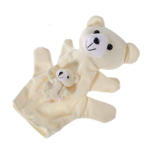 Lapin Blanc Marionnette a Doigt et Marionnette a Main Q2S9