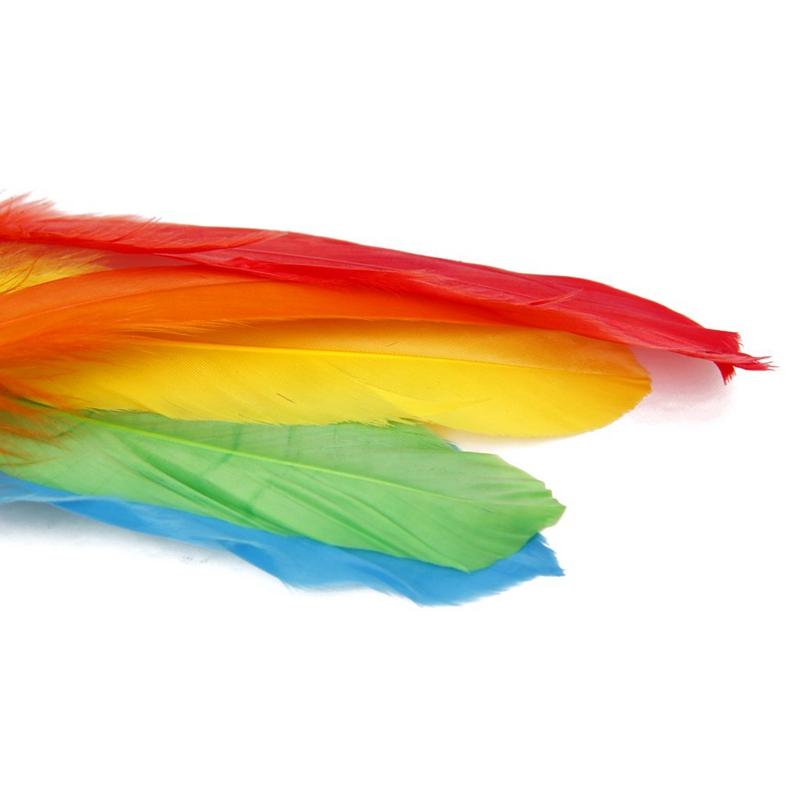 Environ-50-pcs-Colores-Multicolores-Plumes-d-039-oie-souples-12-a-18-cm-S4M9