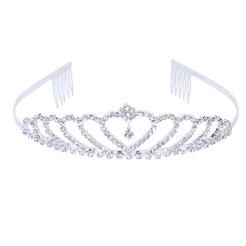 2x(krone Stilvolle Strass Prinzessin Stirnband Haarspange Diadem Hochzeit By8p5)