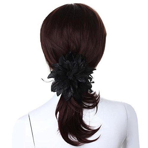 Pin-Broche-de-flor-Cinta-Banda-de-cabeza-Pluma-pano-floral-negro-Boda-Chic-Xo2Z4