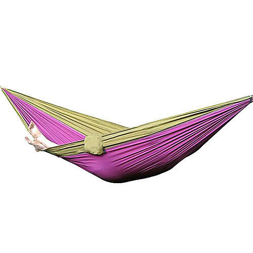 Hot Sale Nylon Fabric Hammock Travel Sleeping Camping For