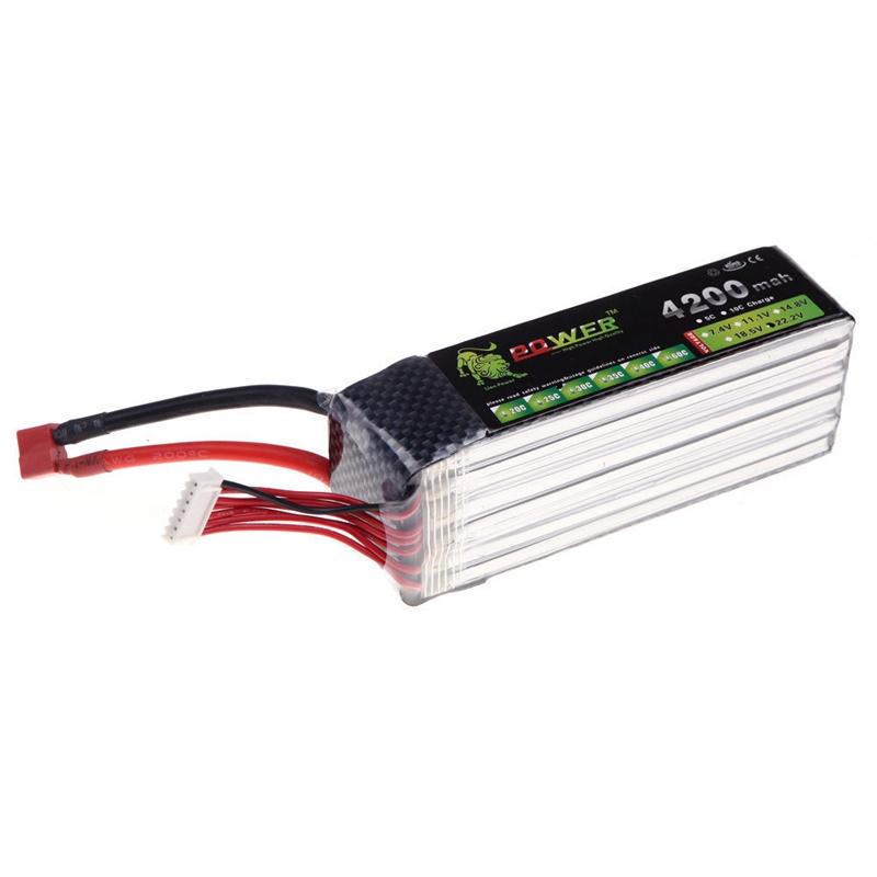 Lion Power 22.2V 4200Mah Lipo Battery 30C MAX 45C T Plug for RC Airplane DJ R3O6