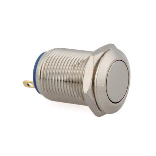 3A//3V-250V Drucktaster Taster Druckschalter 16mm Vernickeltes Messing GY