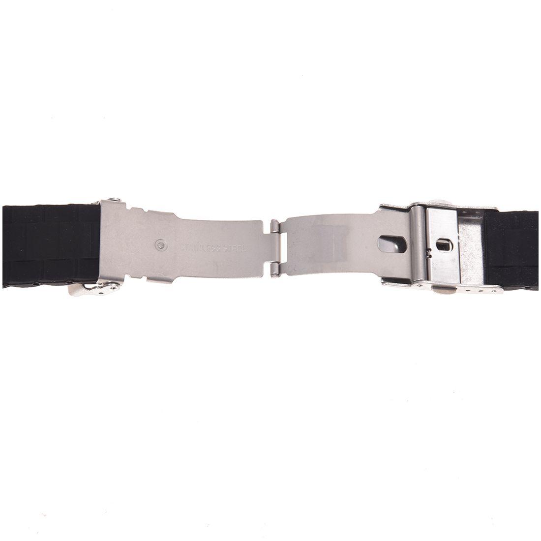 schwarze silikon armband wasserdicht tauchen band. Black Bedroom Furniture Sets. Home Design Ideas