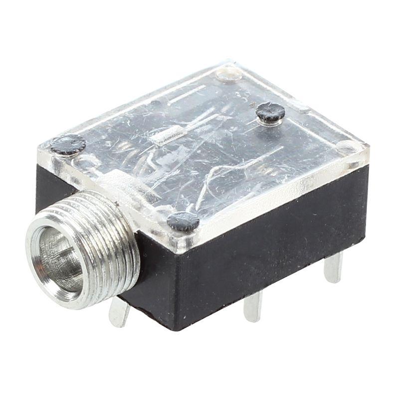 5 Pcs 5 Pin 3.5mm Audio Mono Jack Socket PCB Panel Mount for Headphone K2E3