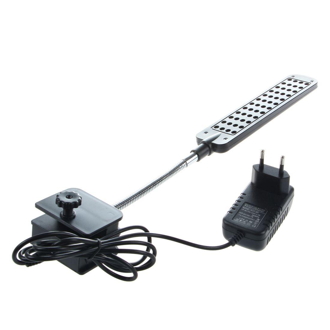 Lampada clip 48 led blu bianco adattatore standard for Acquario bianco usato
