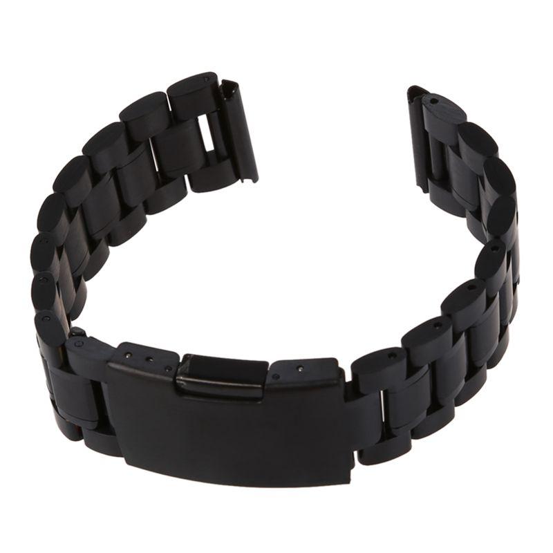 f5095321a Correa 18CM para reloj de Acero Negro con 20MM hebilla bucle T6X5   eBay