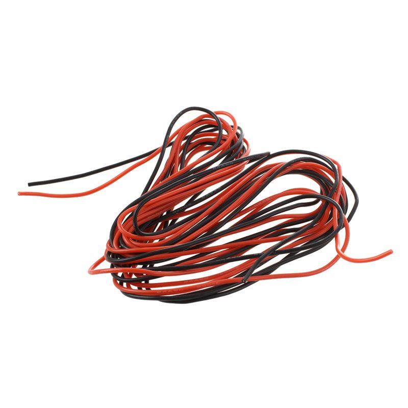 2X 3M 24 Messgeraet AWG Silikon Gummi Draht Kabel rot schwarz ...