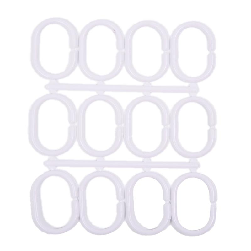 PEVA Duschvorhang Bad Vorhang mit Stange Haken Punkte Muster J9I4