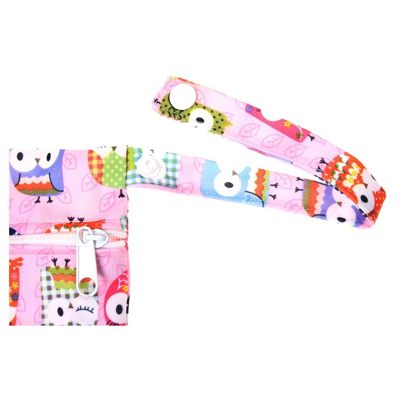 Sac-a-couches-lavables-etanche-zippe-Colorful-Owl-Pattern-Pink-Y4M2-92 miniature 4