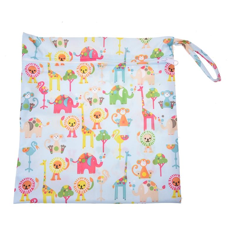 Sac-a-couches-lavables-etanche-zippe-Colorful-Owl-Pattern-Pink-Y4M2-92 miniature 14