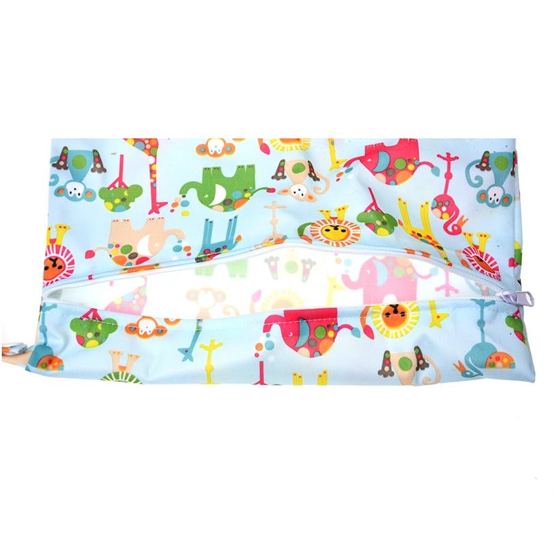 Sac-a-couches-lavables-etanche-zippe-Colorful-Owl-Pattern-Pink-Y4M2-92 miniature 16