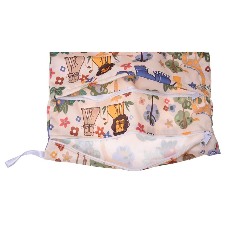 Sac-a-couches-lavables-etanche-zippe-Colorful-Owl-Pattern-Pink-Y4M2-92 miniature 26