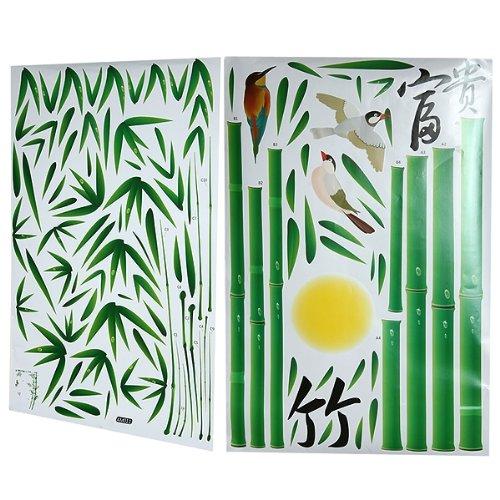 Sticker autocollant pvc mural bambou deco mur maison for Bambou plastique deco