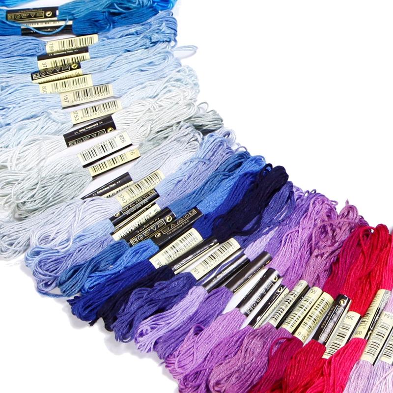 150 echevettes de fil multicolore pour point de croix broderie V9H2 TH