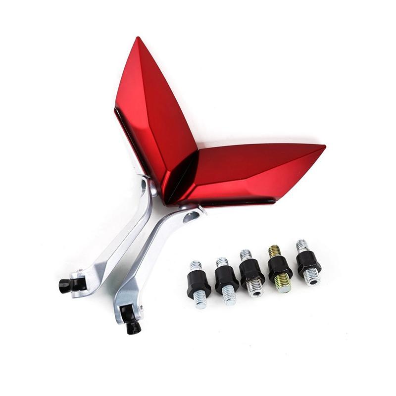 Par Espejos de la motocicleta Vespa tira espejo tornillo de rodadura 8 mm 10 E1