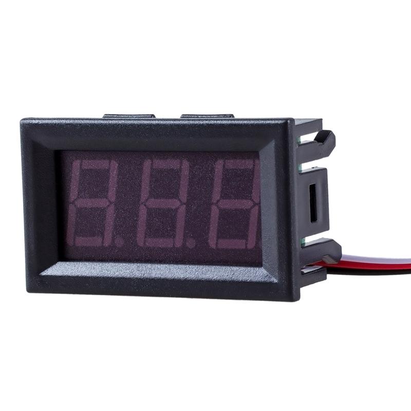 Mini DC 2.4-30V LED Panel Spannung Meter 3-Digitalanzeige Voltmeter Motorra ju/%F