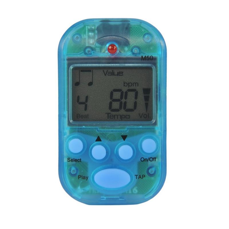 Details about Meideal M50 Metronome Electronique Digital a Pince Bleu  Instrument W7B9 50